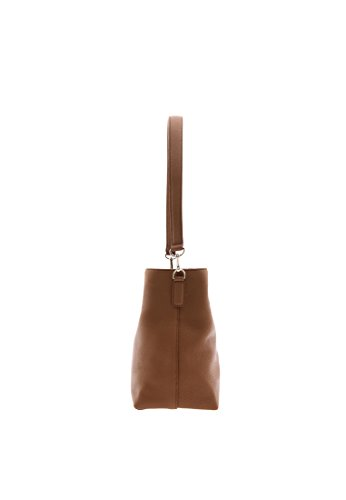 QUATORZE Size jdd70rB9UD LQ Structured One Bag HM2LO11TA Leather Shopper Hobo Shoulder Brown Women's 4Zqqwxn