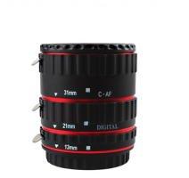 Goliton® Metal Auto Focus Macro Extension Tube EF EF-S for Canon 5D Mark II III 6D 7D 50D 60D 70D 550D 600D 650D 1100D Rebel T3i T4i T5i