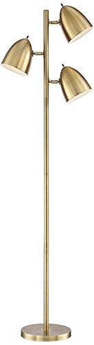Contemporary 3 Lamp (Aaron Aged Brass 3-Light Floor Lamp)