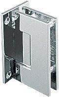 CRL Geneva 537 Series Brushed Nickel Wall Mount Full Back Plate Standard Hinge with 5176; Offset