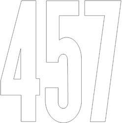 Bulk Buy: Duro Permanent Adhesive Vinyl Numbers 6