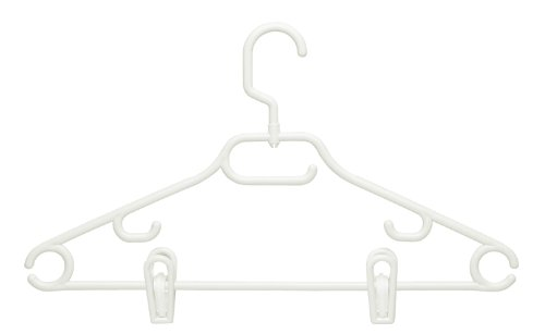 (Honey-Can-Do HNGZ01364 52 Gram Hanger, with Swivel Hook, Dress Notch, and Clips, 18-Pack)