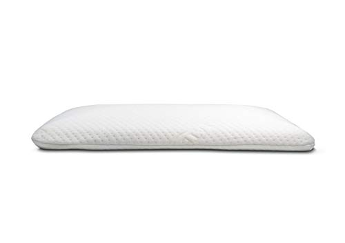 Elite Rest Slim Sleeper - Natural Latex Foam Pillow, Premium Cotton Cover, Great for Back and Stomach Sleepers, Hypoallergenic, Ventilated - Thin Low Profile, 2.75 Inches