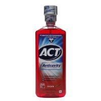 Act Act Anticavity Fluoride Mouth Rinse Alcohol Free Cinnamon, Cinnamon 18 oz (Pack of 3)