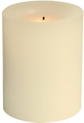 """Inglow Flameless Pillar Candle 4"""" Cream"""