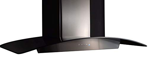 Zephyr ZRV-E30BBSGG 600 CFM 30 Inch Wide Wall Mount Range Hood with ICON Touch Controls and Airflow Control Technology from the Essentials Europa Collection
