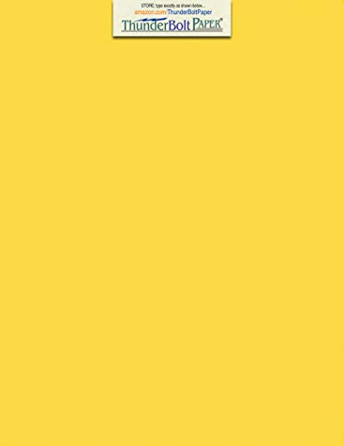 50 Bright Golden Yellow 65lb Cover|Card Paper - 9