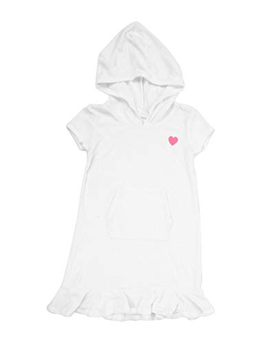 iDrawl Girls Swimwear Cove Up, One Piece Hooded Beach Dress with Front Pocket -