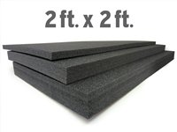 5S LEAN TOOL BOX FOAM ORGANIZERS 2FT X 2FT BLACK 1'' THICK ( 1 PIECE) by 5S Supplies, LLC