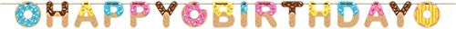 Donut Party Supplies and Decorations Tablecloth and Centerpiece Donut Party Plates and Napkins Cups for 16 People Includes Donut Birthday Banner Perfect Donut Birthday Party Decorations!