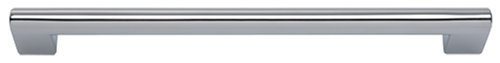Atlas Homewares A829-CH 8-1/4-Inch Euro-Tech Collection Round Rail Pull, Polished - Tech Collection