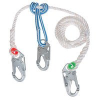 2-in-1 Buckingham Safety Lanyard with Steel Snap Prusik, 10ft Length