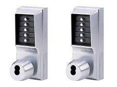 Kaba Simplex 1000 Series Combination Entry Cylindrical Mechanical Pushbutton Lock (2-(Pack))