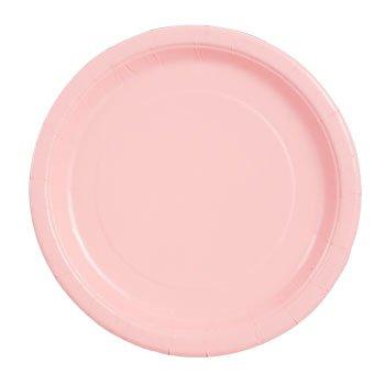 Party Color Paper Plates Pink 9