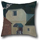 Oil Painting Robert Polhill Bevan - The Caller At The Mill Pillow Shams 18 X 18 Inch / 45 By 45 Cm Best Choice For Kids Room,dining Room,office,boys,bar,bedroom With Each Side