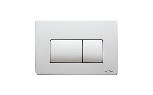 Valsir Serie vs0871301/Tropea 3/placa 2/botones para caja de empotrar Tropea de ABS blanca