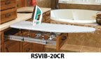 """Ironing Boards, Vanity Drawer Pull-Out Ironing Board, 14.25""""-21"""" Adj. W x 3.67""""H, Chrome"""