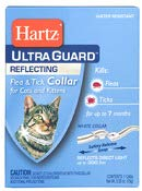 (Hartz Ultra Guard Reflecting Flea & Tick Cat Collar, White 1 Each )