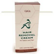Gigi Hair Remover Cream for Bikini and Legs with Calming Balm