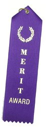 Merit Award Purple Ribbons String