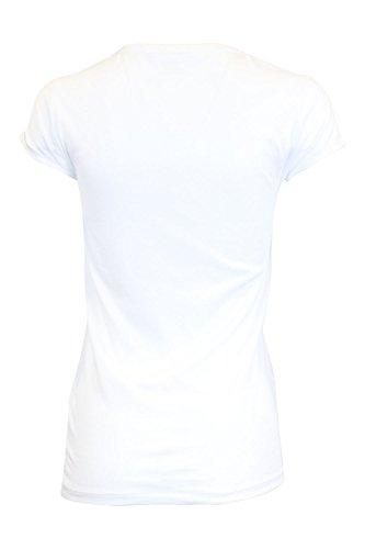 En Mujer V Para Ralph Con Sport Blanco Lauren Camiseta Cuello wxnq4XT8