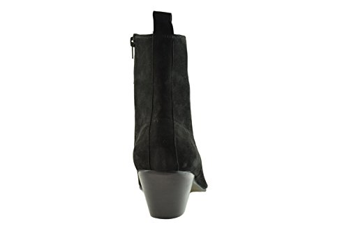 Paolo Vandini Black Suede Men's Winklepicker Beat Boots Pointed Cuban Heel ExyMtD
