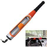 Anti Theft Steering Wheel Lock Baseball Bat Type Security Device Universal For Car Suv With 2 Keys Orange