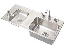 Elkay Classroom Sink - Elkay DRKR3717LC Lustertone Classroom Sink, Double Bowl, Sink Package