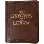 His Footsteps, My Pathway - One-minute Devotionals (Leathersoft)