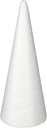 Darice Bulk Buy DIY Durafoam Cone White 9.85 inches (6-Pack) 01260P