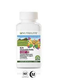 NUTRILITE Kids MultiTarts Chewable Multivitamin/Multimineral 60 tablets,3 Flavors: Strawberry-Mango,Grape and Orange by Nutrilite