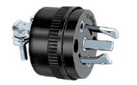 Hubbell Wiring Systems PH6625 Locking Type Plug for Telephone Cable Set, Black by Hubbell Wiring Systems
