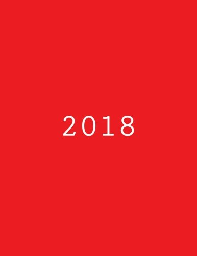2018: Tagebuch Kalender rot (German Edition)