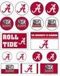 Wincraft NCAA University of Alabama Vinyl Sticker Sheet, 5'' x 7''
