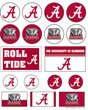 WinCraft NCAA University of Alabama Vinyl Sticker Sheet, 5