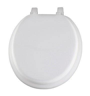 MAYFAIR 11 000 Economy Soft Cushion Toilet Seat, ROUND, White