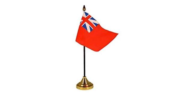 Flagmania® Red Ensign Colonial Bandera de Mesa de Escritorio de 6 ...