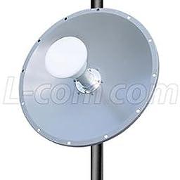 L-Com HG4958DP-25D 4.9-5.8 GHz 25 dBi Dual Polarity MIMO Dish Antenna