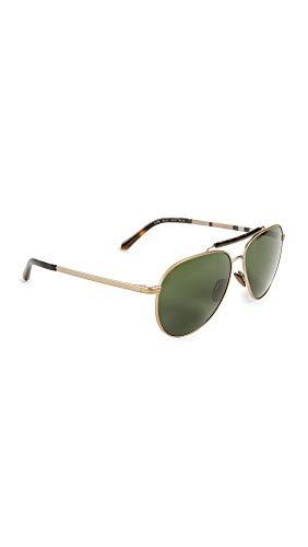 Burberry Men's Pilot Sunglasses, Light Gold/Green, One Size