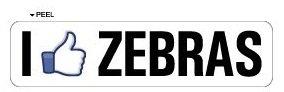 I Like ZEBRAS - Window Door Wall Bumper Sticker - Apply to any surface