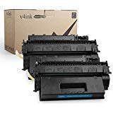 V4INK 2PK Compatible Toner Cartridge Replacement for HP 05X CE505X Black Ink High Yield for use in HP Laserjet P2055dn P2055 P2055D P2055X, Pro 400 Pro 400 M401n M401dne M401dw MFP M425dn Printer