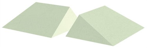 Uncoated Wedge Patient Positioning Sponge, 16° Wedge (Set Of Two), 11'' x 8-1/2'' x 3-1/2'' Quantity - 2 Wedges