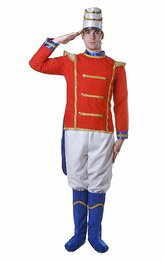 Dress Up America Adult Toy Soldier, Multi-Colored, Medium