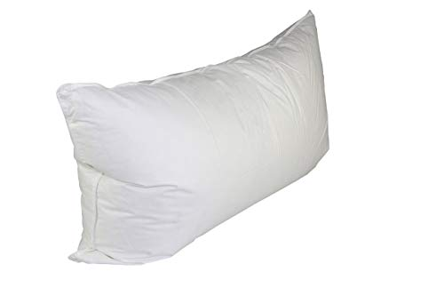 e White Duck Down and Feather King Size Pillow ()