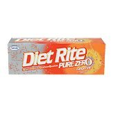 Diet Rite Pure Zero Tangerine Soda - 12 CT