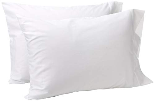 American Pillowcase White Standard Pillow Cases Set of 2, 100% Cotton Pillow Cases, 300T, Hypoallergenic, Soft Pillow Cases Standard Size