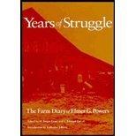 Years of Struggle, Elmer G. Powers, 0875802028
