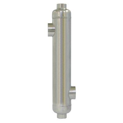 Brazetek 85 kBTU Swimming Pool Heat Exchanger / Outdoor wood boiler / Solar / Spa / Swimming Pool with chlorinated water / 316L Stainless Steel by Brazetek