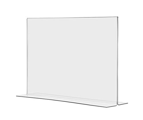 Marketing Holders Tabletop Sign Holder for Posters Advertisements Flyers Informational Sheet Signage Frames Countertop Lucite Picture Frame 17''W x 11''H Bottom Load Pack of 20 by Marketing Holders (Image #7)