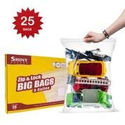 Zip Bags Lock Plastic Storage (Extra Large Bags, Strong Zip & Lock 5 Gallon Bags, 18